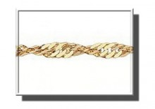 ZAA0023 | Łańcuszek z żółtego złota 585 wzór Singapur 50cm