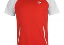 Dunlop Club Crew Tee Men Red/White