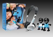 CANYON ChatPack kamera Internetowa ze słuchawkami czarno-niebieskie CANYON CNR-CP9 8717371852061