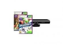 Xbox 360 akcesoria - Kinect + Gra Kinect Adventures! + Gra Kinect Motion Sports