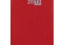 Terminarz 2013 - B7 Midi czerwony