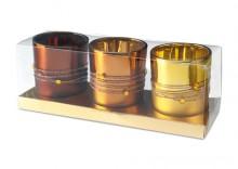 3 szklane świeczniki CANDELLO