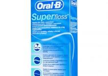 Oral-B Nić Super Floss - nić dentystyczna do aparatów ortodontycznych - 50 odcinków miętowych