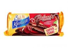 KRAKUSKI 144g Paluszki z galaretką wiśniową w czekoladzie