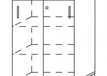 Szafa aktowa niska - drzwi przesuwne