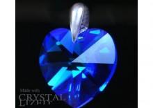 Zawieszka serce Swarovski - Heart Carpi Blue
