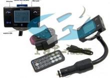Transmiter fm z bluetooth, pilotem na kierownicę samochodu