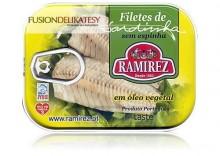 Filety z sardynek portugalskich w oleju roślinnym, 100g