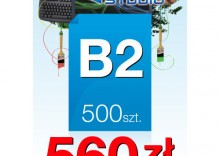 Plakaty B2 - 500 sztuk
