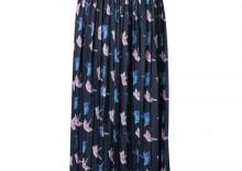 mint&berry Długa spódnica niebieski