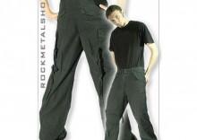 spodnie bojówki VINTAGE FATIGUES M65 WASHED - kolor czarny[SPD-050]