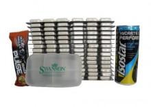 ZESTAW OLIMP Creatine Mega Caps 1250mg 15 blistrów x 30kaps + Napój energetyczny 250ml Isostar + Pillbox - Lemon Drink