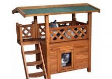 Domek Loża dla kota - Dł. x szer. x wys.: 77 x 50 x 73 cm