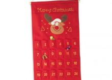 Tradycyjny, filcowy kalendarz adwentowy ADVENTINO