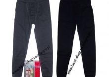Kalesony dziecięce ciepłe z bawełny Cornette Czarne/Grafit 98/104, 110/116, 122/128, 134/140, 146/152, 158/164