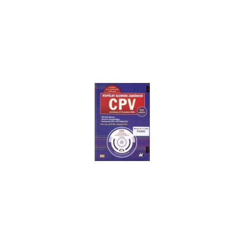 Wspólny Słownik Zamówień CPVWersja polsko-angielska na CD