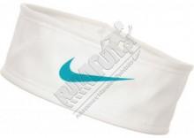 Lekka opaska na głowę do treningu - Nike Mesh Headband, kolor: biały/turkusowy
