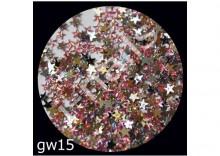 Cyrkonie akrylowe gwiazdki gw15 róż AB