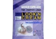 HOME INSTITUT Kremowa maska do włosów czosnek i proteiny - saszetka 75 ml