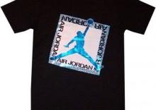 Koszulka Jordan Shine on TEE - czarno - niebieska
