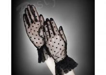 Rękawiczki koronkowe w kropki