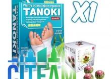 CITEAM - TANOKI- 1 OPAKOWANIE - plastry oczyszczające + Herbata gratis