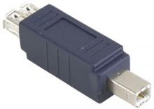 Adapter USB A gniazdo - B wtyk - 1szt. Bandridge Blue