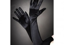 Rękawiczki długie wieczorowe atłasowe