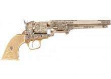 DENIX Rewolwer Colt Navy US z rękojeścią w kolorze kości słoniowej, 1851r