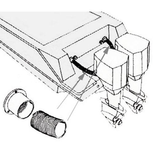 Osłona - rura karbowana do wiązek kablowych dn.50,8mm x 1mb