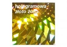 Folia ft27 hologramowa żółta złota