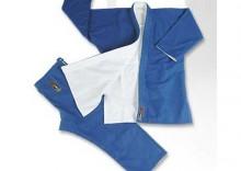 Judogi plecionka - biało-niebieska gruba