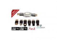 ZESTAW PRZEJSCIOWEK USB 7w1 KABEL miniUSB