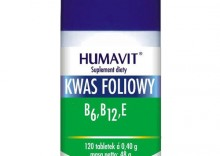 Humavit Kwas foliowy, B6, B12, E. 120 tabletek