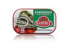 Sardynki portugalskie w pomidorach, 125g