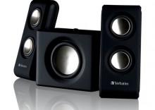 VERBATIM PORTABLE 2.1 SPEAKER SYSTEM BLACK 49092