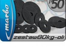 Zestaw obciążeń olimpijskich 80kg ZESTAW80KG-oli