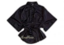 Vila Czarna bluzka kimono