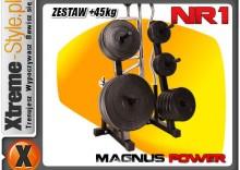MAGNUS POWER Stojak +gryf 150 +kratka +łamany +45kg