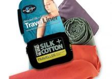 wkładka do śpiwora jedwab i bawełna Silk and Cotton Traveller Mumia