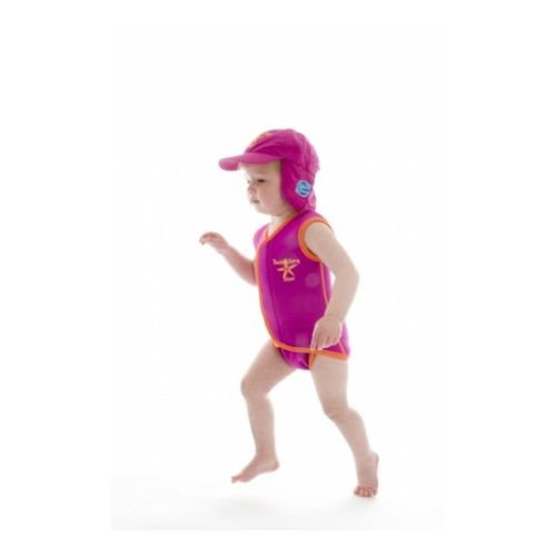 Neoprenowy mini-kombinezon pływacki Baby Wrap - różowy z mango