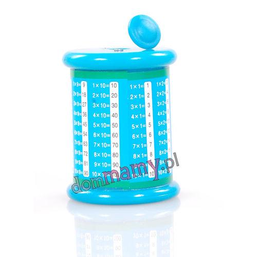 Temperówka z tabliczką mnożenia niebieska