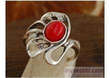 COLLEGIA - srebrny pierścionek z koralem