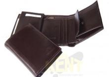 ANDRUS 501/1 BRĄZ - Skórzany bardzo elegancki portfel męski