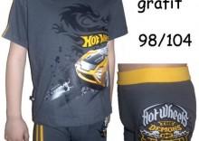 KOMPLET Koszulka+Bokserki HOT WHEELS Cornette HAMMER krótki rękaw 98/104
