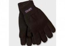 Trykotowe rękawiczki thinsulate - akryl - czarne