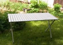 Aluminiowy stół automatycznie rozkładany, 141x70cm