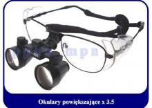 Okulary powiększające - lupa 3.5x oprawa tytan