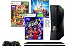 Konsola MICROSOFT Xbox 360 4 GB + Kinect + Kinect Adventures + Kinect: Disneyland Adventures + Dance Central 3