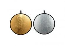 Blenda okrągła 2w1 złoto-srebrna 107cm